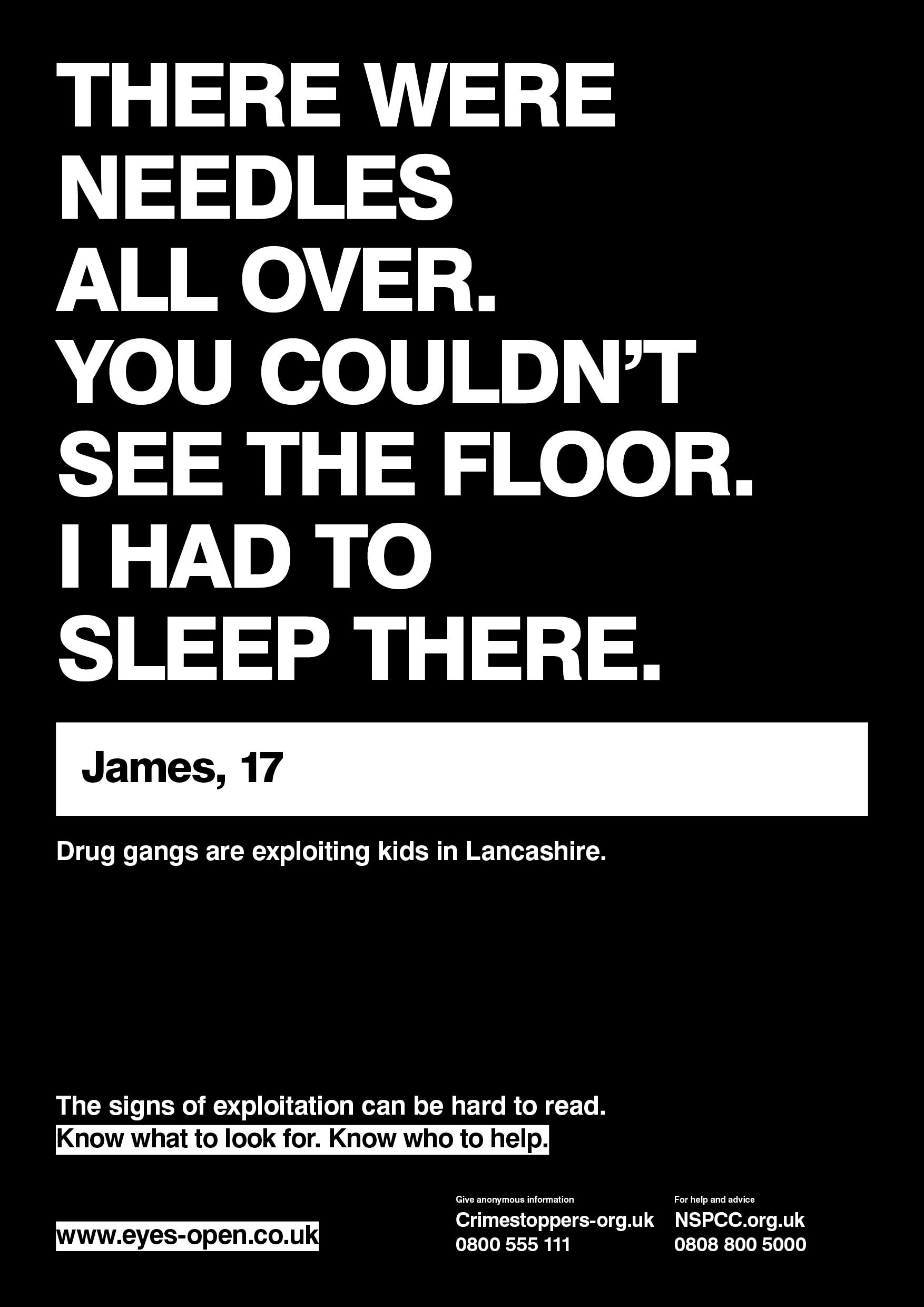 Lancashire Police county linesposter