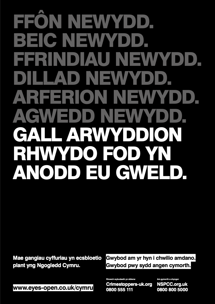 County Lines NORTH WALES WELSH poster