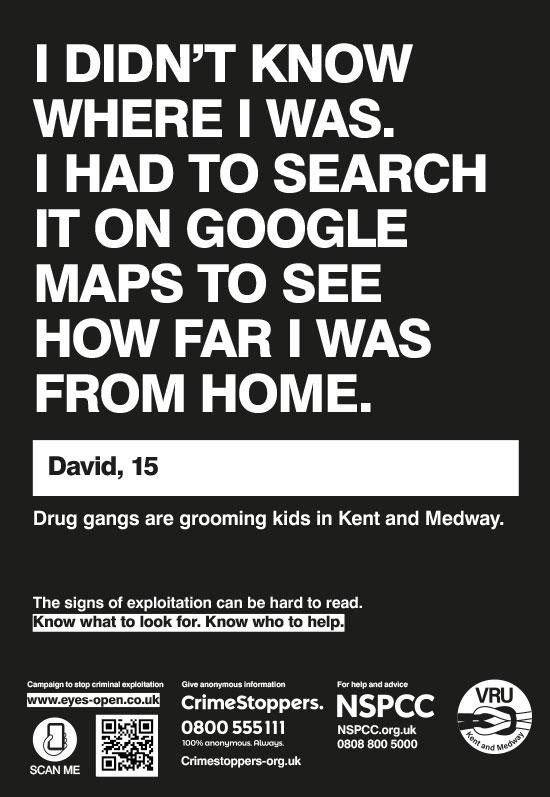 Kent 02 Google maps - A4 poster